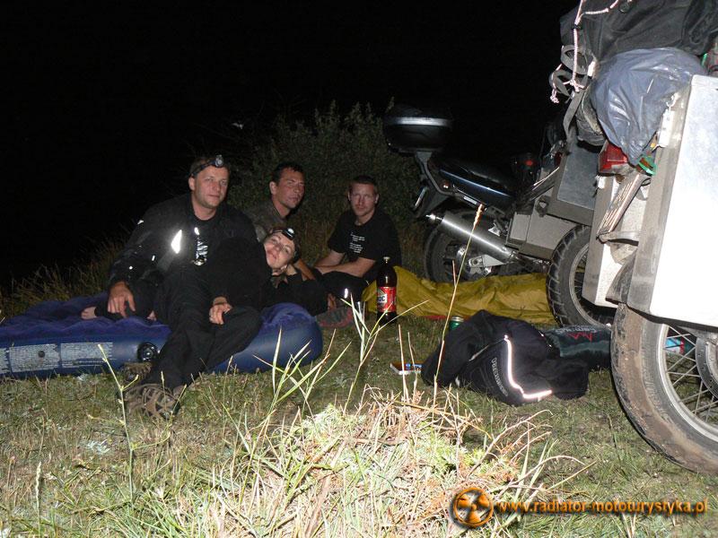 Wyprawa motocyklowa. Gruzja - Swanetia 2011. Rumunia - Vama Veche - noc na plaży z dwoma motocyklistami z Krakowa
