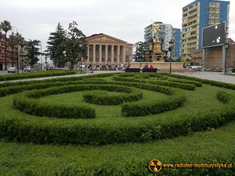Gruzja - fontanna w Batumi