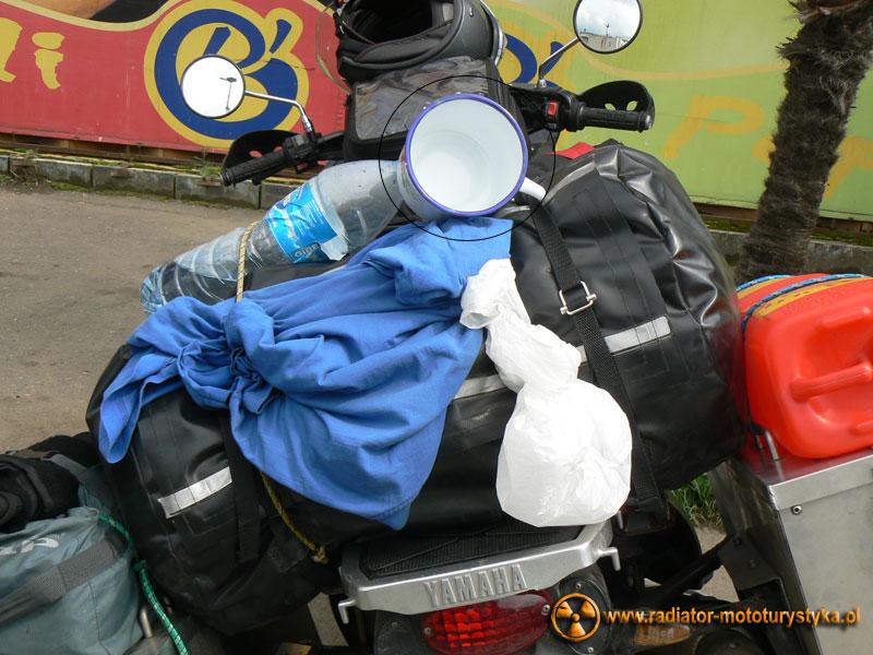 Gruzja - Poti - bagaż Mietka tuż po zakupach