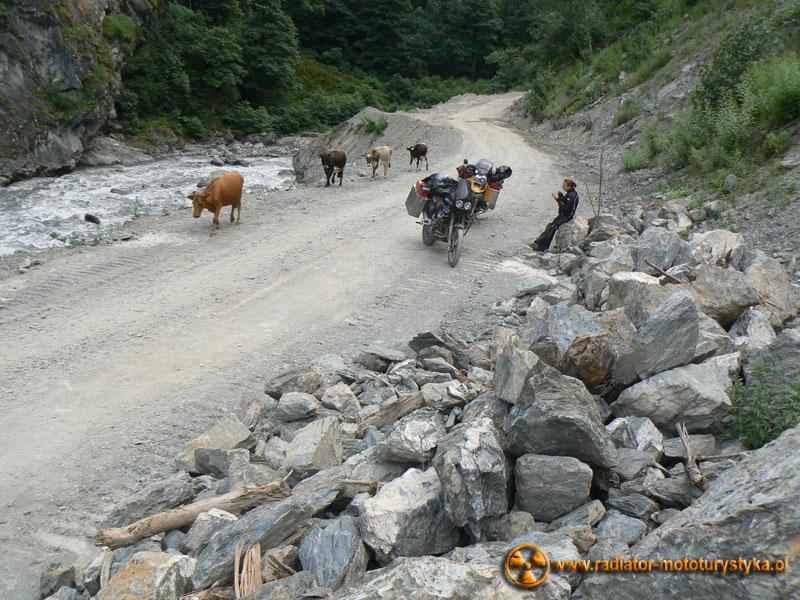 Gruzja - w drodze do Uszguli