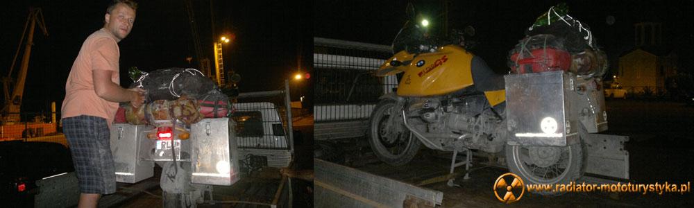 Gruzja - Poti - transport motocykla z Poti do Batumi