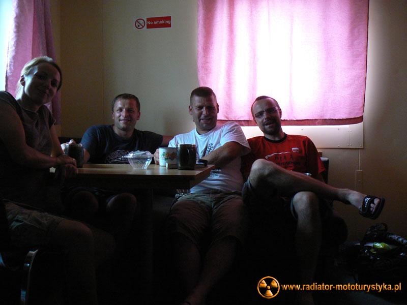 W promowej kajucie z naszym współlokatorem Łukaszem. Pozdrawiamy. Wygraj wszystkie maratony !