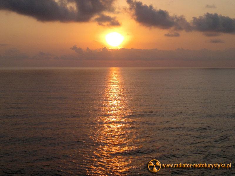 Morze Czarne - zachód słońca