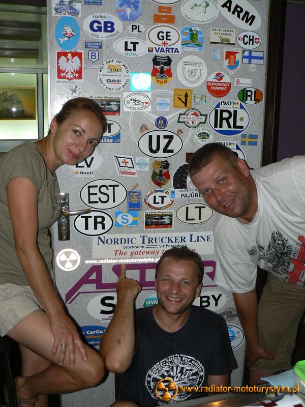 Radiator naklejony - pływa na promie Ukrferry na trasie Batumi-Illiczewsk.