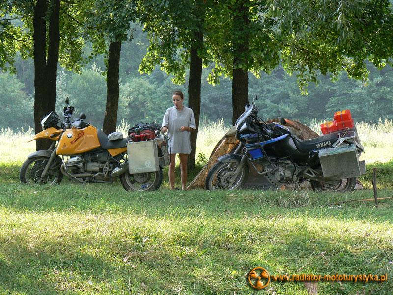 Ukraina - Sokilec-Peczora - nocleg nad rzeką