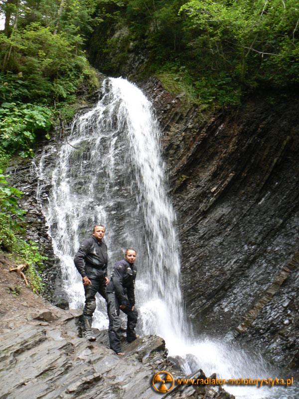 Ukraina - Karpaty - wodospad Guk