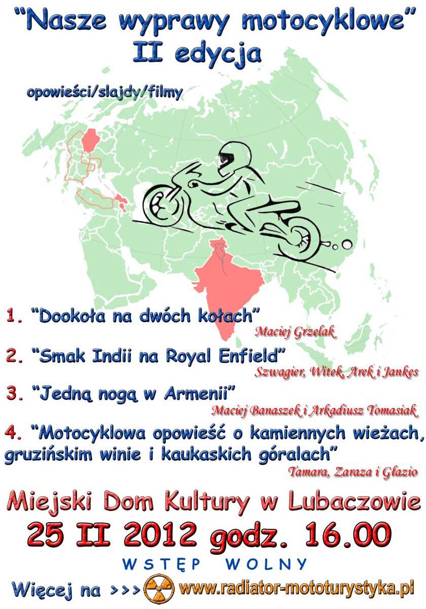 Plakat - II nasze wyprawy motocyklowe