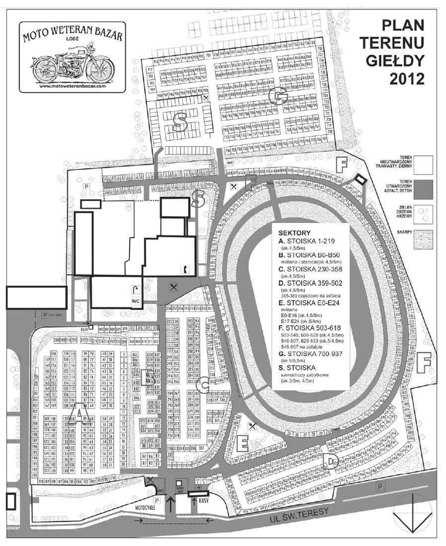 Plan terenu giełdy - Łódź 2012