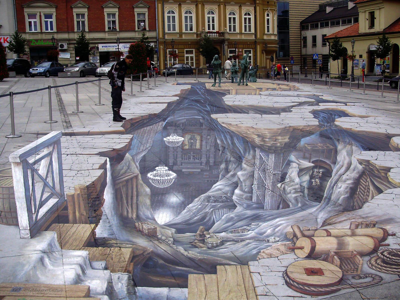 Wieliczka streetart 3D