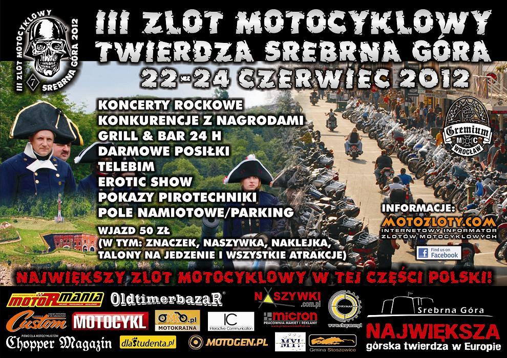 Zlot motocyklowy - Twierdza Srebrna Góra