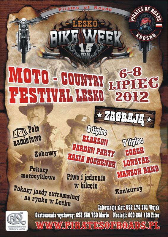 XV Międzynarodowy Zlot Motocyklowy Moto Country Festival Lesko 2012