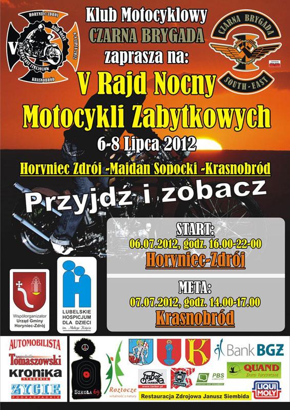 V Rajd Nocny Motocykli Zabytkowych - Horyniec Zdrój/Krasnobród