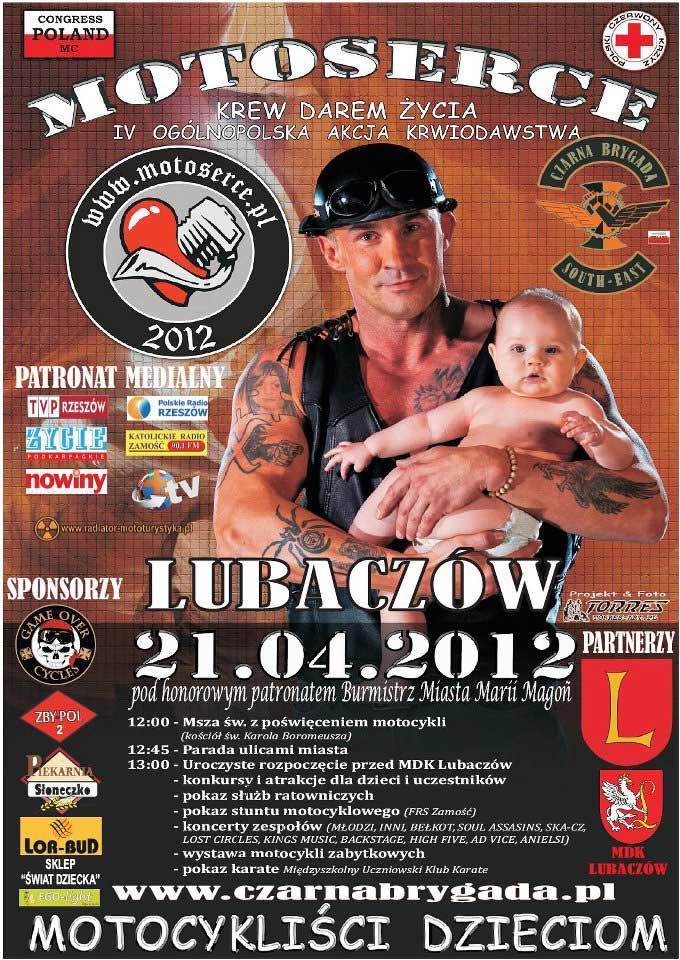 "Plakat ""MotoSerce"" - Lubaczów 2012"