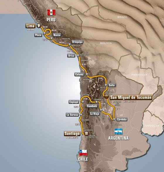 Etapy-Dakar 2013