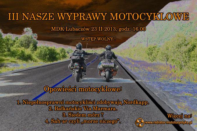 Plakat - III Nasze Wyprawy Motocyklowe