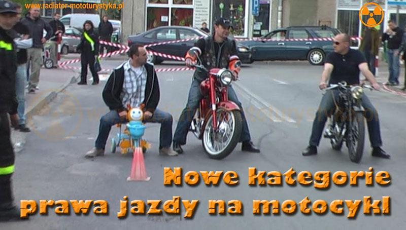 Nowe kategorie prawa jazdy na motocykl