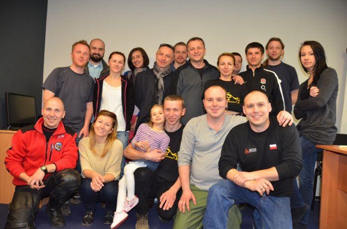 Członkowie założyciele Polskiego Stowarzyszenia Niepełnosprawnych Motocyklistów
