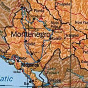Do Albanii 2009 - trasa przez Czarnogórę