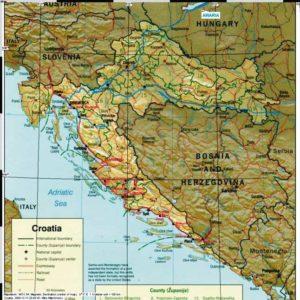 Do Albanii 2009 - mapa powrotu z Chorwacji
