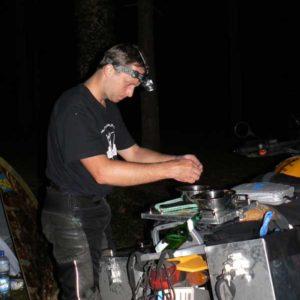 Do Albanii 2009 - posiłek
