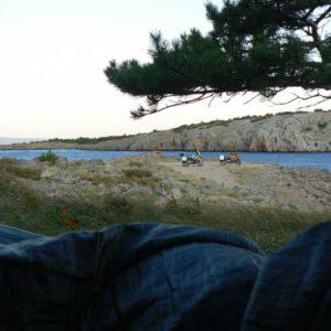 Do Albanii 2009 - nocleg na dziko w Chorwacji