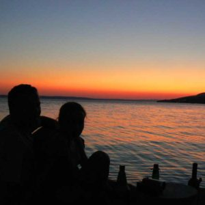 Do Albanii 2009 - kemping koło Starigradu w Chorwacji