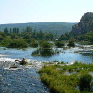 Do Albanii 2009 - północna część Parku Narodowego Krka w Chorwacji