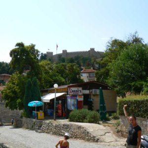 Do Albanii 2009 - zamek w Ochrydzie w Macedonii