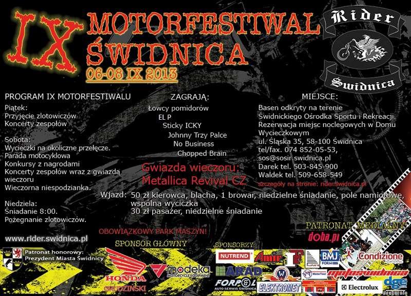 Zloty, imprezy motocyklowe 06-08.09.2013