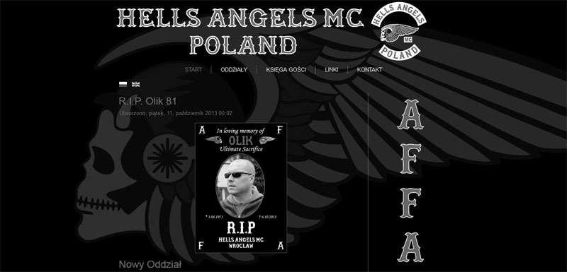 Hells Angels MC Poland w żałobie