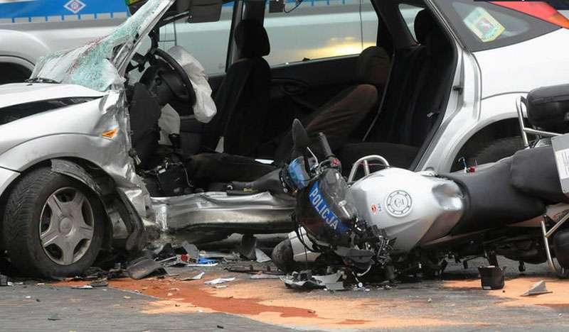 Śmierć policjanta na motocyklu w Lublinie
