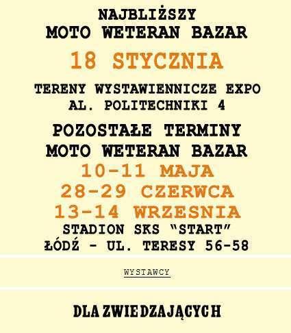 Moto Weteran Bazar – Łódź 2014