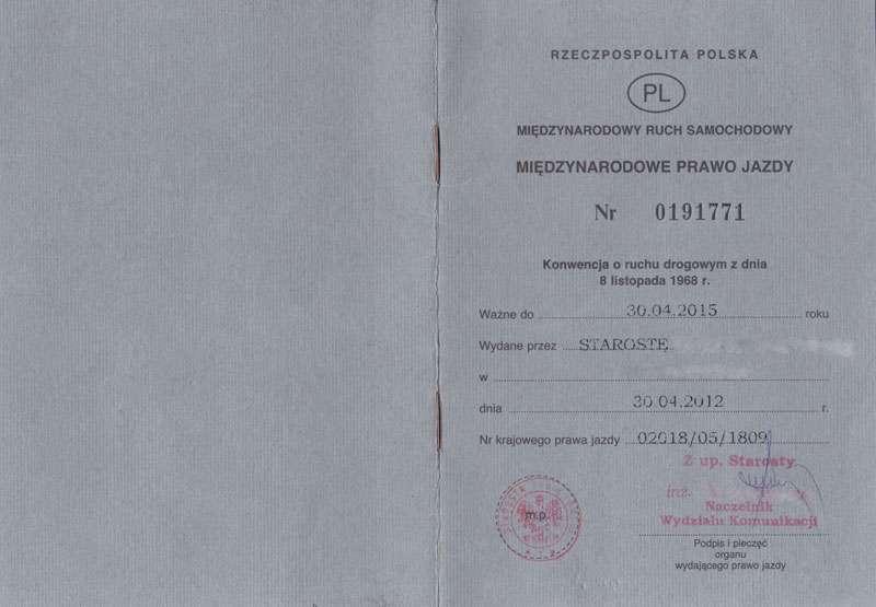 Międzynarodowe Prawo Jazdy – pobierz wniosek