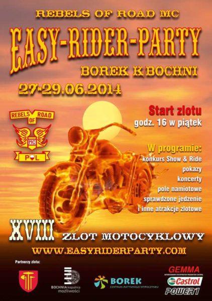 XVIII Easy Rider Party 27-29.06.2014 – Borek k. Bochni