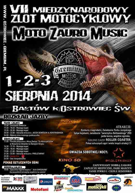VII Moto Zauro Music 1-3.08.2014 – Bałtów