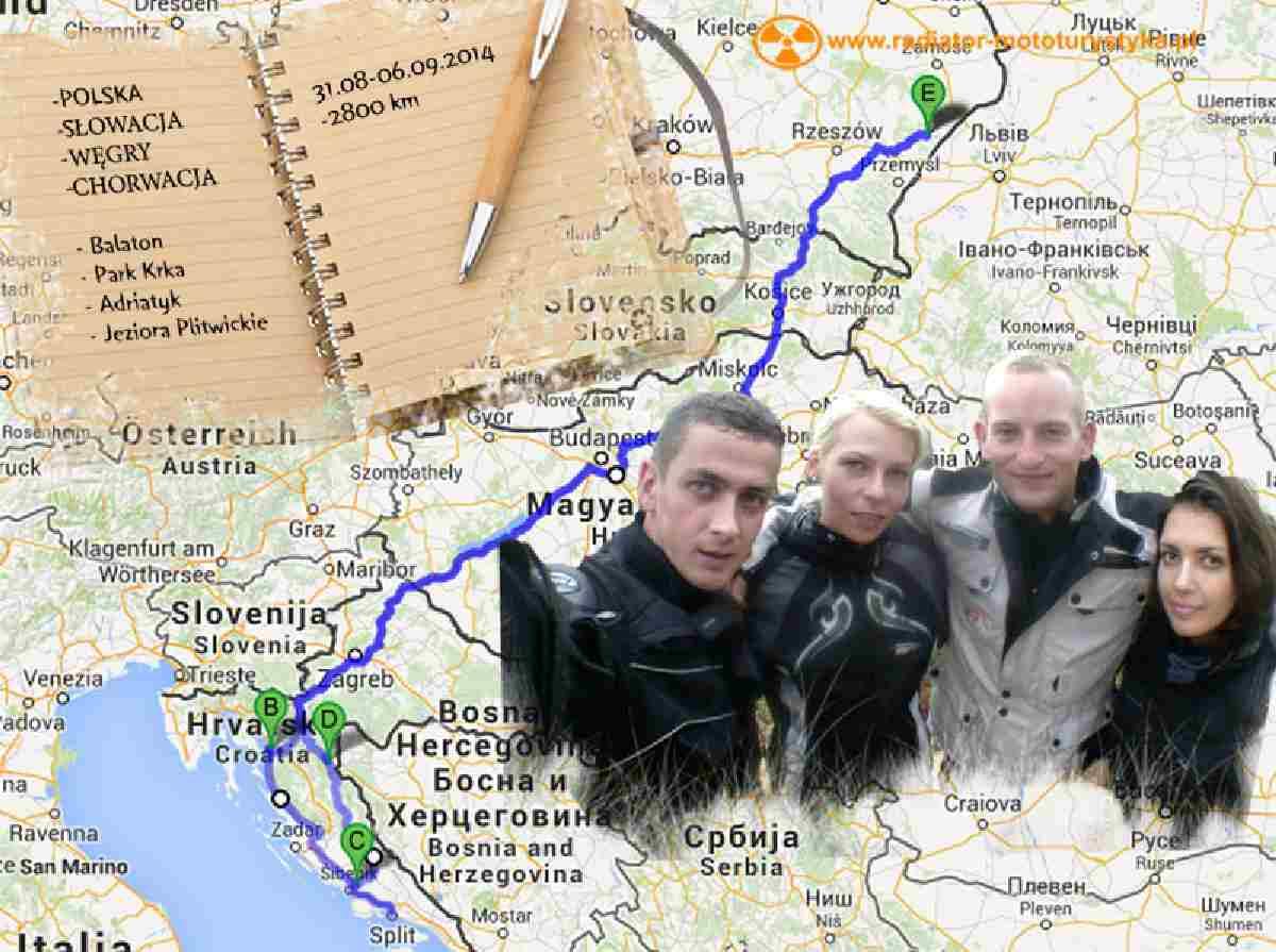 Fuka, Rujan i Adriatyk. Czyli Chorwacja na 2 kołach