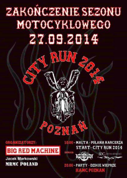 City Run – Zakończenie Sezonu Motocyklowego 27.09.2014 – Poznań