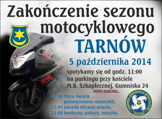 Zakończenie sezonu motocyklowego 05.10.2014 – Tarnów