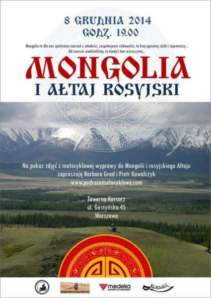 Podróże motocyklowe – Mongolia i Ałtaj – opowieści i pokaz slajdów