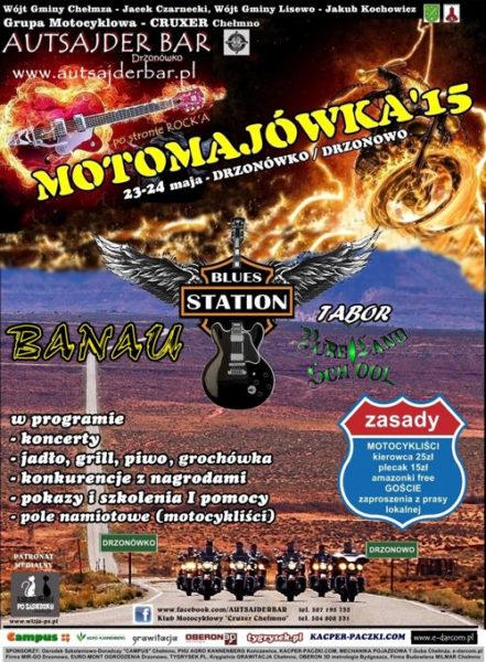 II Moto-Majówka – 23-24.05.2015 Drzonówko k. Chełmży