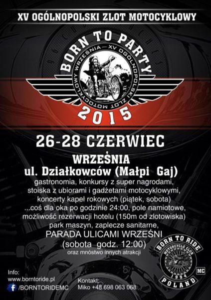 XV Ogólnopolski Zlot Motocyklowy – 26-28.06.2015 Września