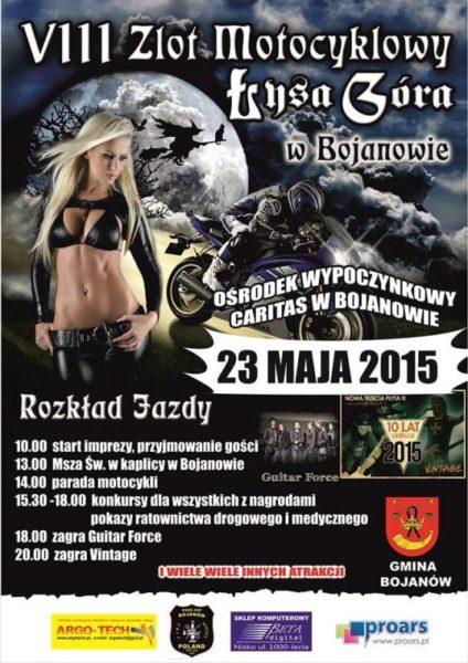 VIII Zlot Motocyklowy – 23.05.2015 Łysa Góra Bojanów