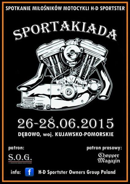 SPORTAKIADA – II Spotkanie miłośników motocykli H-D Sportster – 26-28.06.2015 Dębowo