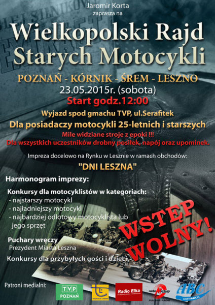 Wielkopolski Rajd Starych Motocykli – 23.05.2015 Poznań