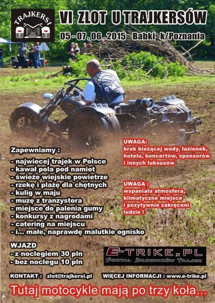 VI Zlot u Trajkersów – 05-07.06.2015 Babki k/Poznania