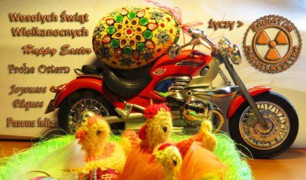 Motocyklowa Kartka Wielkanocna Radiator 2017
