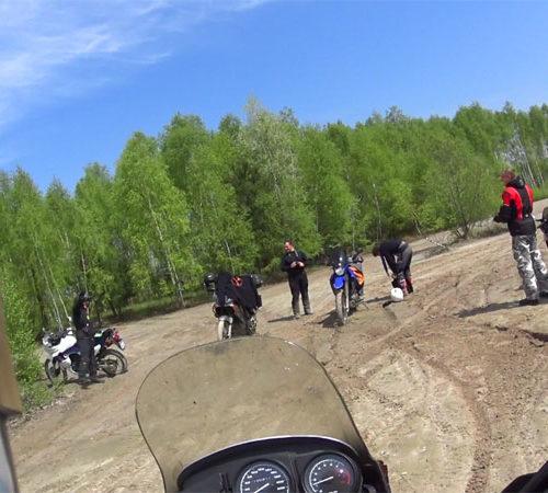 Lubaczów i Roztocze Wschodnie motocyklem - motocyklowy plac zabaw na terenie starej kopalni siarki w Baszni