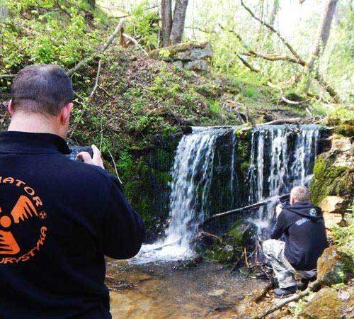 Lubaczów i Roztocze Wschodnie motocyklem - wodospad po starym młynie w Polance Horynieckiej