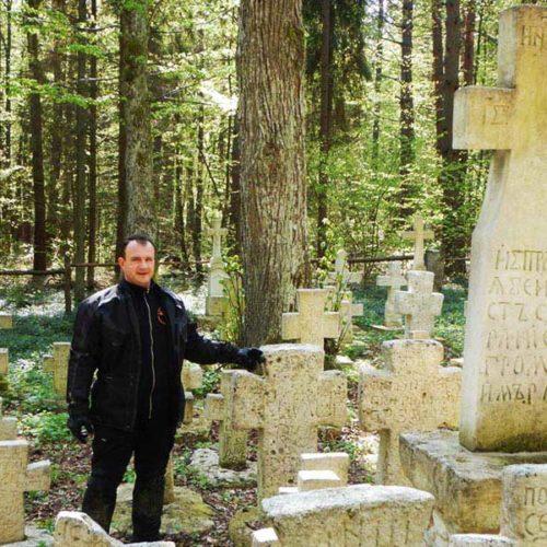 Lubaczów i Roztocze Wschodnie motocyklem - cmentarz w Polance Horynieckiej