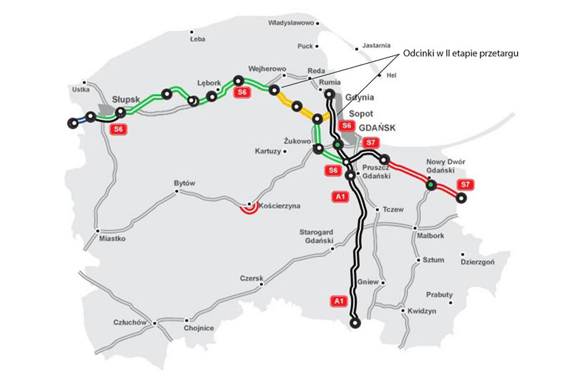 S6 od Trójmiasta w stronę Słupska będzie jednak budowana